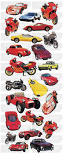 "BEAUTIFUL FUN STICKERS "" CARS & MOTORBIKES "" FOR CARDS & CRAFT"