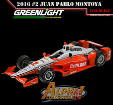 GREENLIGHT 10996 1:18 2016 #2 JUAN PABLO MONTOYA VERIZON IZOD DEVILBISS INDY 500
