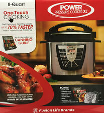 New Tristar Electric Power Pressure Cooker XL 8 Qt. + Bonus Canning Book Recipe