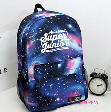 SUPER JUNIOR SUPERJUNIOR SJ BAG BACKPACK SCHOOLBAG BLUE KPOP NEW