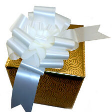 6 Large White Pull Bows Christmas Gift Wrap Wedding Party Centerpiece Decoration