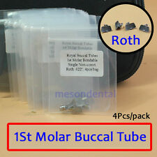 40Pcs Dentale Ortodontico ROTH/MBT Buccal Tube 018 022 Bondable 1St Molar pit