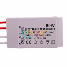Nuovo AC 12V 60W Alimentazione Elettrica Trasformatore Per Lampade Alogene