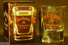NEW JACK DANIELS TENNESSEE FIRE WHISKY SHOT GLASS PUB BAR HOME DRINKS 50ML BOXED