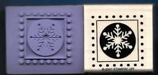 WINTER SNOWFLAKES Snow SEAL dots flake border NEW Stampin' Up! 2007 RUBBER STAMP