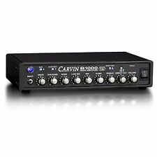 CARVIN B1000 LIGHTWEIGHT MONO BLOCK 900W BASS AMP HEAD w/ 12AX7 PREAMP TUBE NEW