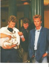 A-HA with a pet dog magazine PHOTO /  Poster / Clipping 11x8 inches