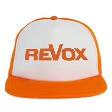 Cappello Revox, Trucker Cap Dj, cappellino arancione, Disc Jockey Vintage