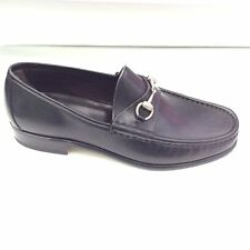 SHOE GUCCI Black Leather EU 43.5 UK 9.5 US 10.5 Shoes Men