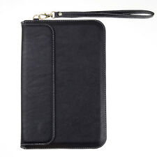 Black PU Leather Stand Sleeve Case for Samsung Galaxy Tab 4 / 3 7 inch Note 8.0