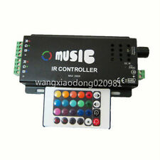 120W Music IR Remote Controller Sound Sensitive for RGB LED Strip Light 12V BK