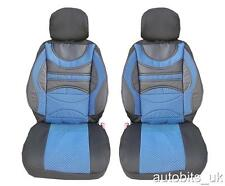 FRONT BLUE PREMIUM PADDED CUSHION SEAT COVERS FOR VW CADDY PASSAT GOLF POLO