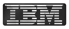 "IBM 2.75""x1"" Chrome Domed Case Badge / Sticker Logo"