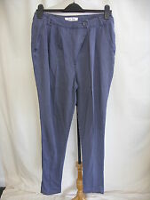 "Ladies Trousers Oasis size 10, grey, skinny, asymetric front, waist 30"" 8092"
