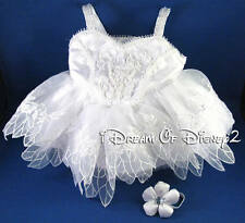 BUILD-A-BEAR WHITE SUGARPLUM FAIRY DRESS RETIRED TEDDY TUTU COSTUME CLOTHES