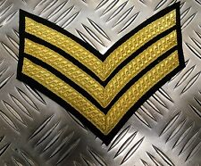 Genuine British Army Sergeant Rank Stripes / Chevrons / Braided Patches - NEW