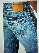 TRUE RELIGION 1/2 RICKY SUPER T MEN JEAN CJKL ARTIST LAB M859NRZ9 NWT S-30W $358