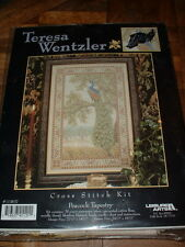 Teresa Wentzler Counted Cross Stitch Kit #113837 Peacock Tapestry NEW