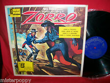 Walt Disney ZORRO OST LP + Book 1968 Italy NUOVO MINT In Italiano