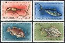 Indonesia 1963 Fish/Lobster/Marine Life/Wildlife/Nature  4v set (n41113)