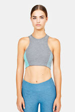 NEW - OUTDOOR VOICES Women's ATHENA Graphite/Slate/Clearwater SPORT CROP TOP - S