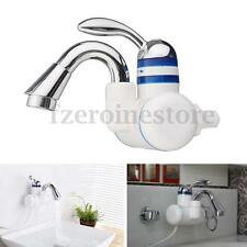 110V Bathroom Kitchen Basin Heating Electric Water Faucet Wall Mounted Mixer Tap