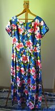 Women's Vintage UI MAIKAI Full Length 100% Cotton Hawaiian Sun Dress Size M-L