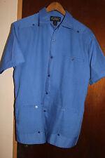 Dominguez Originales Yucatan Mexico Men's Blue Button Front Shirt Size 40