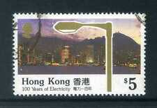 Hong Kong 1990 $5 Centenary of Electricity SG 650 used