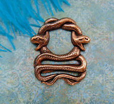 Antique Copper Double Egyptian Snake - Snakes Stamping ~ Finding (Fb-6084)