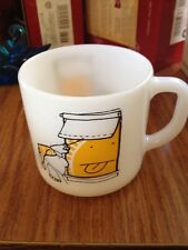 Vintage Ziggy Tom Wilson Federal Glass Mug Sun Sticking Tongue