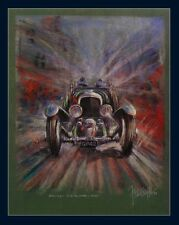 Bentley Blower Frontview Kunstdruck Original Ferreyra-Basso Mille Miglia
