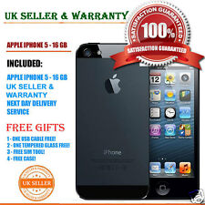 APPLE IPHONE 5 16GB BLACK AND SLATE UNLOCKED 4G PHONE GRADE C & Free Gifts