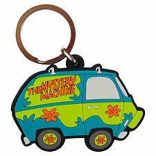SCOOBY DOO CARTOON CAMPER VAN KEYRING Mystery Machine Hippy Bus VW PVC