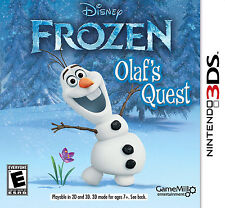 Disney Frozen: Olaf's Quest (Nintendo 3DS, 2013) Brand New (NTSC/US/CA)