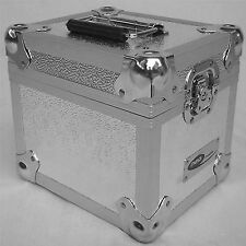"1 X NEO Aluminum Silver Storage for 100 Vinyl LP Records 7"" DJ carry Case"