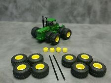 1/64 Farm custom scratch 800/70 R38 4WD tractor tire kit yellow rims + weights