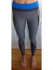 Lululemon Size 6 Inspire Tight II Crop Pants Heathered Black Gray Blue Run Mesh