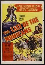 THE LAST OF THE MOHICANS Movie POSTER 27x40 B Randolph Scott Binnie Barnes Bruce