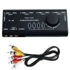 4 in 1 AV 109 Audio S-Video Signal Switcher Splitter Selector Out RCA Switch Box