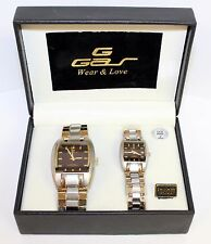 Ruby Mother of Pearl GAS His and Hers Wrist Watch Gift Set G Series Wear & Love