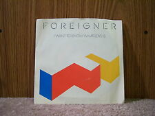 Atlantic 7-89596 Foreigner - I Want To Know What Love Is/Street Thunder 1984 7""