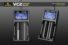 New XTAR VC2 Intelligent LCD Screen USB Battery Charger 18650 14500 26650 AAA AA