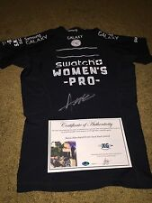 ALANA BLANCHARD SIGNED EVENT USED SWATCH WOMEN'S PRO RASH GUARD-EXACT PROOF COA