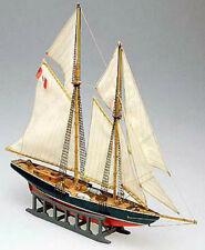 "Beautiful, Mini Wooden Model Ship Kit by Mamoli: the ""Bluenose"""
