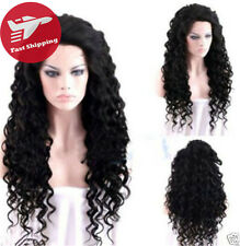 Fashion Costume Sexy Women's Black Cosplay Long  New Curly Hair Wigs + Wig Cap