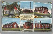 Stillwater Oklahoma A and M College Buildings Antique Postcard J59606