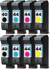 8x DRUCKER PATRONE TINTE  für HP40 HP44 350C PLUS 450C 455CA 488CA SET