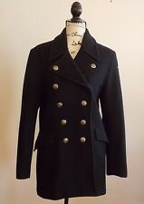 POLO RALPH LAUREN WOMEN'S NAVY BLUE WOOL PEA COAT SIZE LARGE