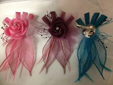 Bulk Sale Wedding Melbourne Cup Carnival Races Fascinator Brooch Pink Blue 15PCs